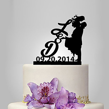 Cake Topper Classic Theme / People / Romance Classic Couple Plastic Wedding / Anniversary with 1 pcs Poly Bag