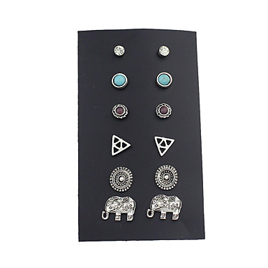Women's Stud Earrings - Basic Silver For Casual