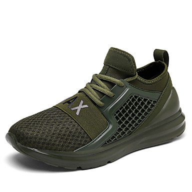 Men's Shoes Breathable Mesh Spring Fall Comfort Sneakers for Casual White Black Red Green