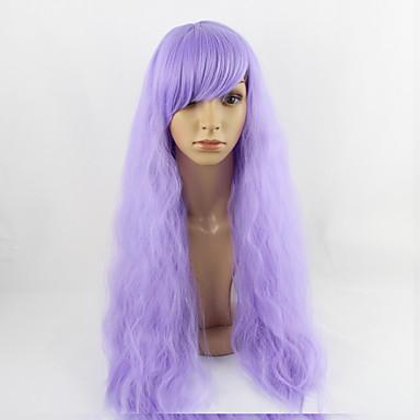 Syntetisk hår Parykker Kinky Glatt Rett Lokkløs Cosplay-parykk Medium Lilla
