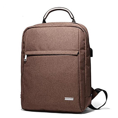 Men's Bags PU Backpack for Casual All Seasons Black Gray Coffee