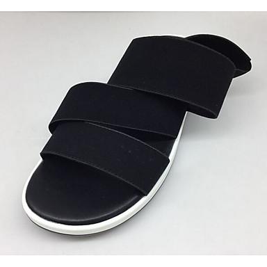 Women's Sandal Comfort Summer Cowhide Casual Black Flat