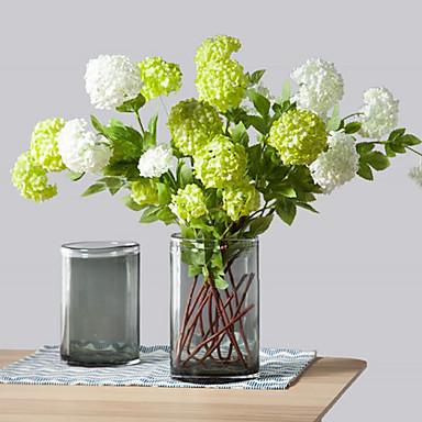 4 cabeças / ramo de flores artificiais de hortênsias casa decoração casamento oferta