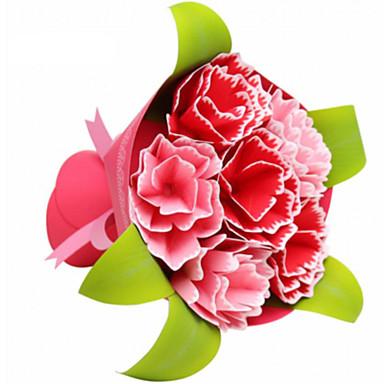 Quebra-Cabeças 3D Maquetes de Papel Artesanato de Papel Brinquedos de Montar Quadrada Rose 3D Simulação Faça Você Mesmo Cartão de Papel
