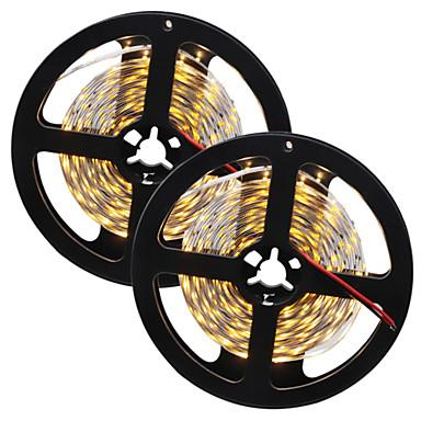 80W Fleksible LED-lysstriper 7650-7750 lm DC12 V 10 m 300 leds Varm Hvit Hvid