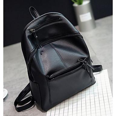 Women Bags All Seasons PU Backpack for Casual Black