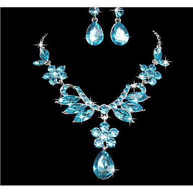 Women's Jewelry Set - Flower Include Purple / Blue For Wedding / Party / Special Occasion / Anniversary / Birthday