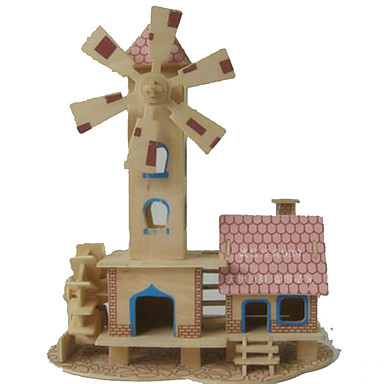 3D Puzzles Jigsaw Puzzle Wood Model Model Building Kit Rectangular Dome 3D Wood Girls' Unisex Gift