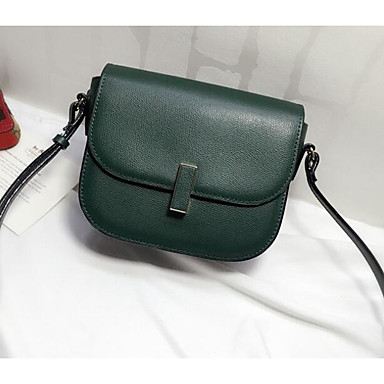 Women Shoulder Bag Cowhide All Seasons Casual Outdoor Square Clasp Lock Green Black Red