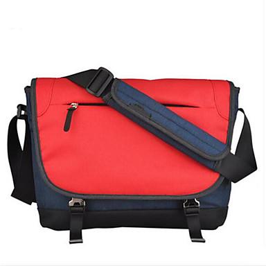 Men Shoulder Bag Polyester Cotton All Seasons Casual Outdoor Round Zipper Deep Blue