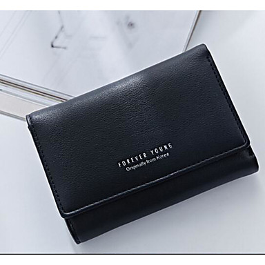 Women Coin Purse PU All Seasons Square Without Zipper Blue Black Blushing Pink