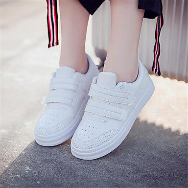 Women's Shoes PU Spring Comfort Sneakers For Casual White
