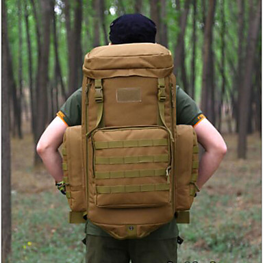 Men Bags All Seasons Polyester Sports & Leisure Bag for Casual Camping & Hiking Brown