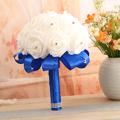 Wedding Flowers Bouquets Wedding Elastic Satin 8.66