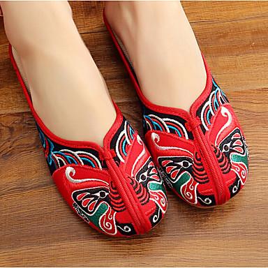Naisten Kengät Kangas Kevät Comfort Tasapohjakengät Punainen