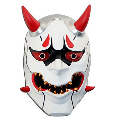 Máscara Inspirado por Overwatch Death the Kid Anime Acessórios para Cosplay Resina / Acrílico (plástico) Trajes da Noite das Bruxas