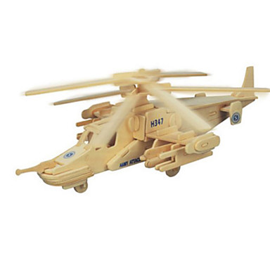 3D Puzzles Metal Puzzles Wood Model Model Building Kit Plane / Aircraft DIY Natural Wood Classic Kid's Adults' Unisex Gift