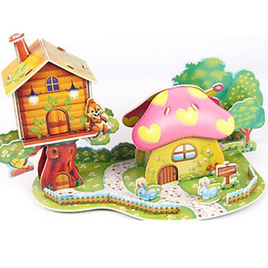 3D építőjátékok / Fejtörő / Papírmodell Ház / Gomba DIY Kiváló minőségű papír Klasszikus Gyermek Uniszex / Fiú / Lány Ajándék
