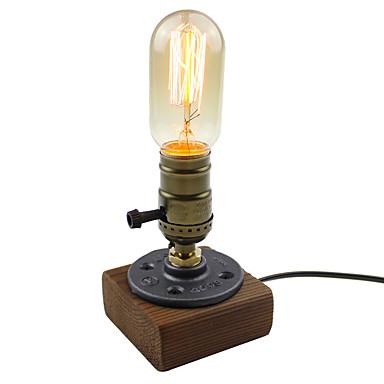 Clássica Artistíco Simples Criativo Tradicional/Clássico Regulável Luminária de Mesa Para Madeira/Bambu 110-120V 220-240V