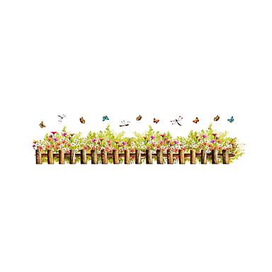 Autocolantes de Parede Decorativos - Autocolantes de Aviões para Parede Moda Floral / Botânico Desenho Animado Sala de Estar Quarto