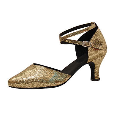 Naiset Moderni Silkki Tekonahka Sandaalit Lenkkarit Ammattilainen Solki Stilettikorko Kulta Mahdollisuus räätälöidä