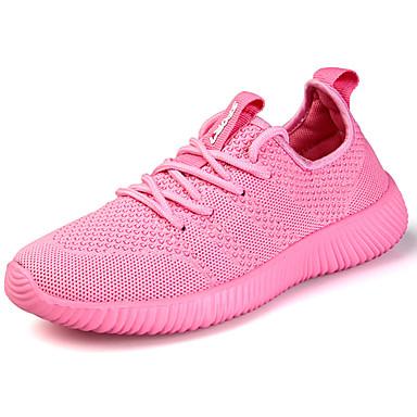 Homens sapatos Couro Ecológico Primavera Outono Conforto Tênis Corrida para Ao ar livre Preto Azul Rosa claro
