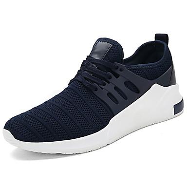 Miehet kengät Tyll Kevät Syksy Comfort Urheilukengät Kävely Solmittavat Käyttötarkoitus Kausaliteetti Musta Tumman sininen Harmaa