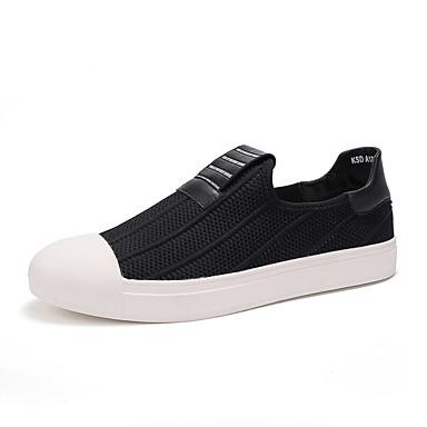 Homens sapatos Materiais Customizados Primavera Outono Conforto Mocassins e Slip-Ons Combinação para Atlético Casual Ao ar livre Preto