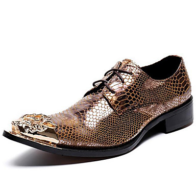 Unisex Formal Shoes Nappa Leather Fall / Winter Oxfords Gold / Party & Evening