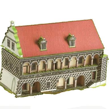 Quebra-Cabeças 3D Artesanato de Papel Quadrada Construções Famosas Casa Arquitetura 3D Faça Você Mesmo Cartão de Papel Duro todas as
