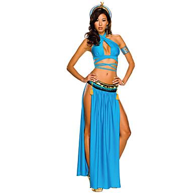 Egyptiske Kostymer Queen Cleopatra Cosplay Cosplay Kostumer Maskerade Party-kostyme Halloween Utstyr Dame Halloween Festival / høytid