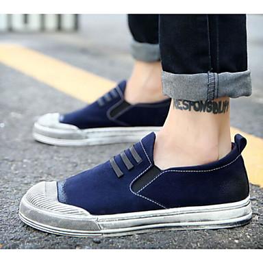 Men's Shoes Pigskin Spring Winter Comfort Loafers & Slip-Ons For Casual Black Red Blue