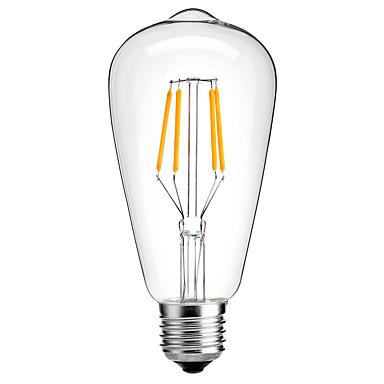 HRY 1pc 4W 350-450 lm E26/E27 LED Glühlampen ST64 4 Leds COB Dekorativ Warmes Weiß Kühles Weiß 220V-240V