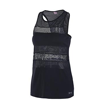 Running Tank Fitness, Running & Yoga Quick Dry for Yoga Running/Jogging Casual Exercise & Fitness Mesh/Net Loose Black