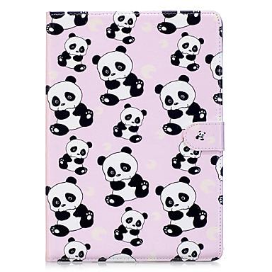 Capinha Para Apple iPad 4/3/2 iPad Air 2 Origami Estampada Capa Proteção Completa Panda Rígida PU Leather para iPad 4/3/2 iPad Air 2 iPad