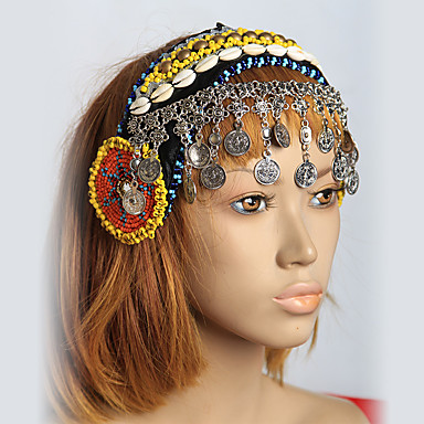 Belly Dance Headpieces Women's Performance Shell Sequined Metal Sequin Starfish and Seashell Silver Coin Bohemian Theme Fairies Holiday