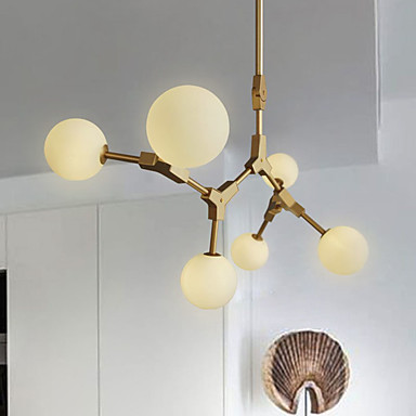 6-luz Lustres Luz Ambiente - Lâmpada Incluída, 110-120V / 220-240V Lâmpada Incluída / G4 / 15-20㎡