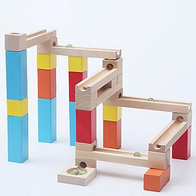 Pistas para Bolinhas de Gude Brinquedo Educativo Modelo e Blocos de Construção Brinquedos 3D Madeira Para Meninas Crianças Dom 1pcs