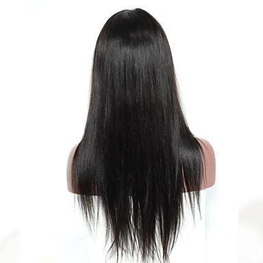 Ekte hår Blonde Forside Parykk Dyp Bølge 120% tetthet Naturlig hårlinje / Afroamerikansk parykk / 100 % håndknyttet Dame Lang Blondeparykker med menneskehår