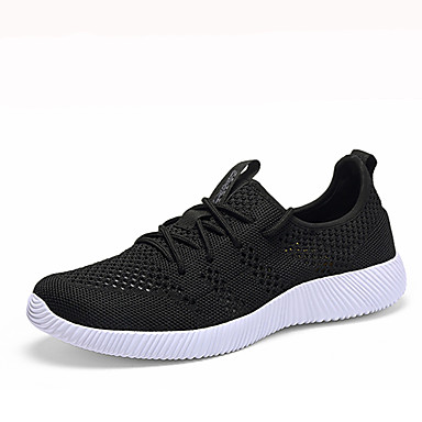 Men's Shoes PU Spring Fall Comfort Athletic Shoes Walking Shoes Lace-up for Casual Black Dark Blue