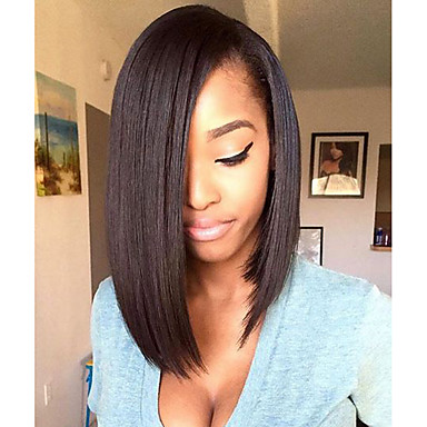 Short Bob 150% Density Glueless Lace Front Human Hair Lace Wigs with Baby Hair Top 8''-14'' Lace Front Wigs Natural Hairline Brazilian 100% Human Hair