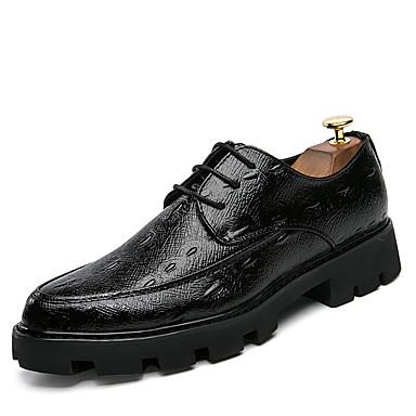Homens Sapatos formais Couro Ecológico Verão / Outono Sapatos De Casamento Preto / Preto e Dourado / Preto / Vermelho / Festas & Noite