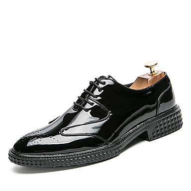 בגדי ריקוד גברים נעליים פורמליות עור אביב / קיץ נעלי אוקספורד שחור / אדום / כחול