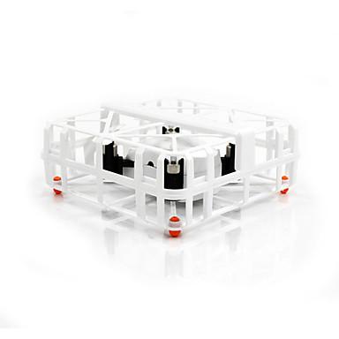 RC Drone TKKJ M77 4 Kanal 2.4G - Fjernstyrt quadkopter LED Lys Fjernstyrt Quadkopter USB-kabel Blader