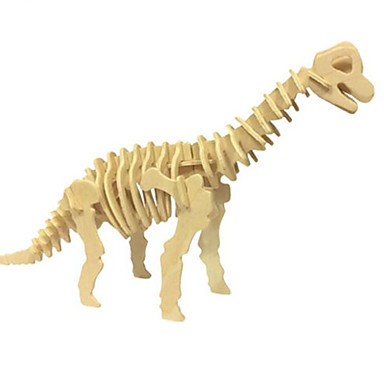 3D Puzzles Jigsaw Puzzle Wood Model Model Building Kit Dinosaur Animal 3D Simulation DIY Wood Natural Wood Classic Kid's Unisex Gift