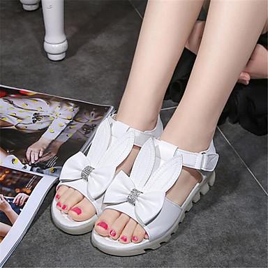Women's Sandals Comfort Spring PU Casual White Blushing Pink Flat
