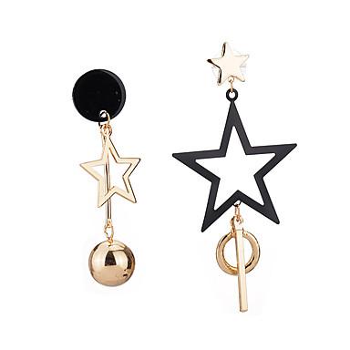Mulheres Brincos Compridos - Estrela Original Dourado / Prata Para Festa / Aniversário / Escritório / Carreira