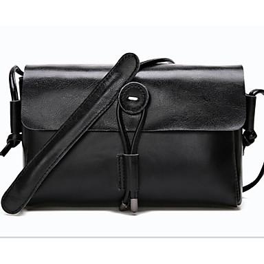 Women Shoulder Bag Cowhide All Seasons Casual Outdoor Round Zipper White Black Brown