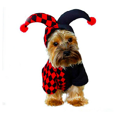 Dog Costume Dog Clothes Halloween Christmas Geometric Black Costume For Pets