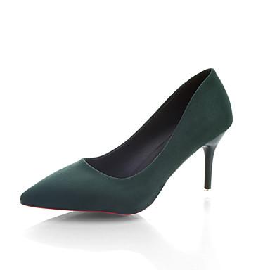 Naiset Kengät TPU Kesä Syksy Valopohjat Mokkasiinit Kävely Stilettikorko varten Puku Musta Vihreä Pinkki